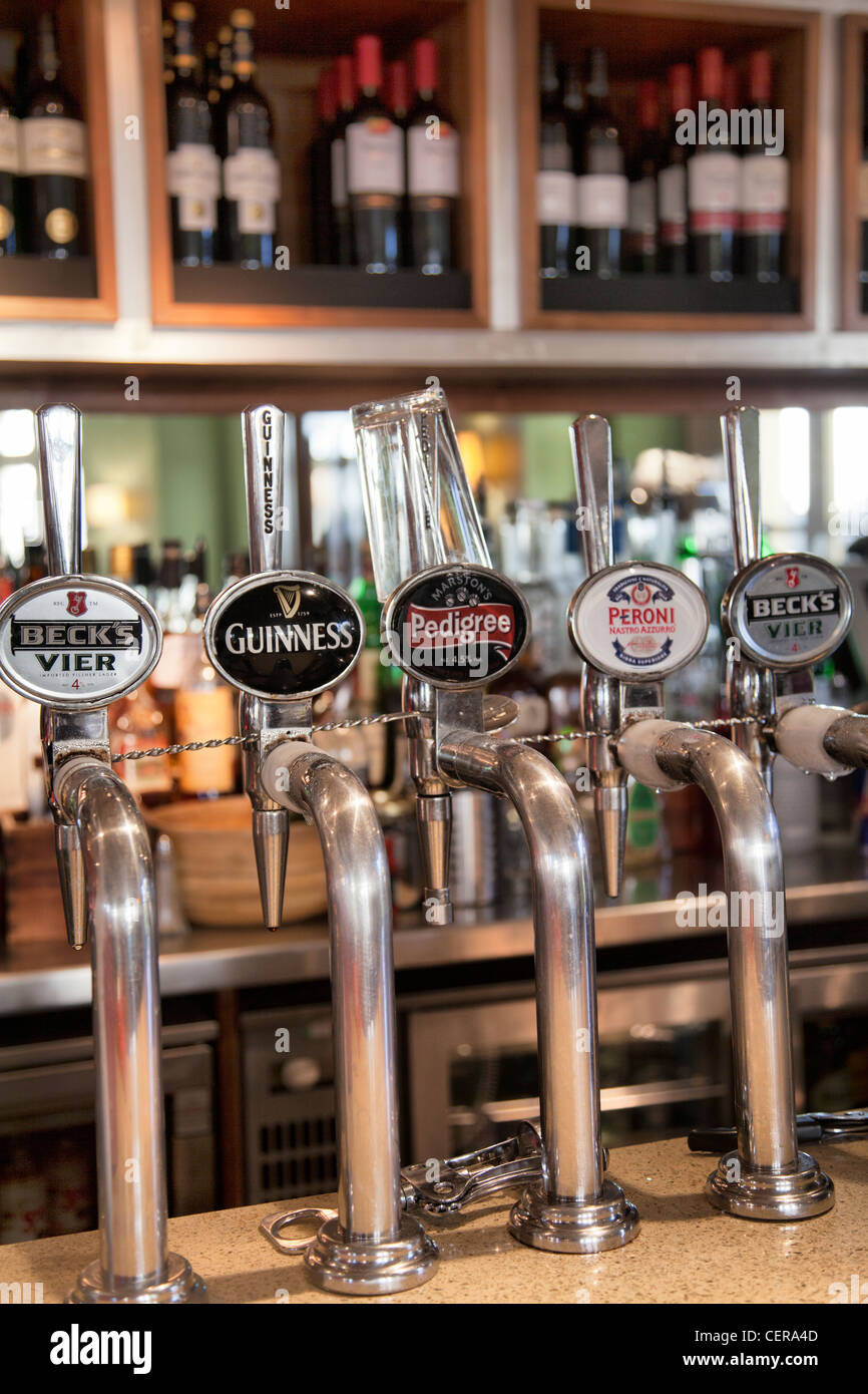 Draft on tap at Pub in London - Stock Image