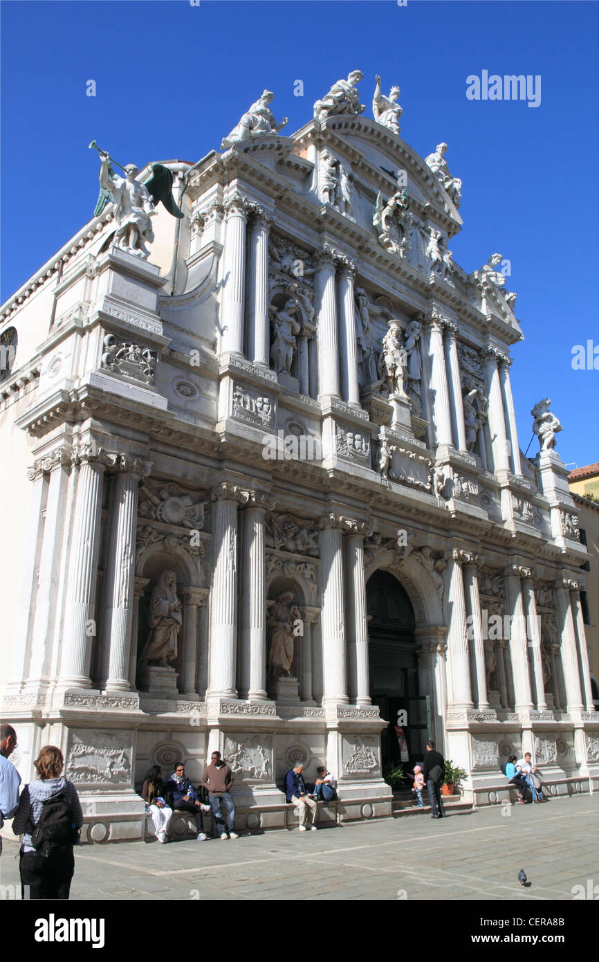 Chiesa di Santa Maria del Giglio, Church of St Mary of the Lily, Venice, Veneto, Italy, Adriatic Sea, Europe Stock Photo