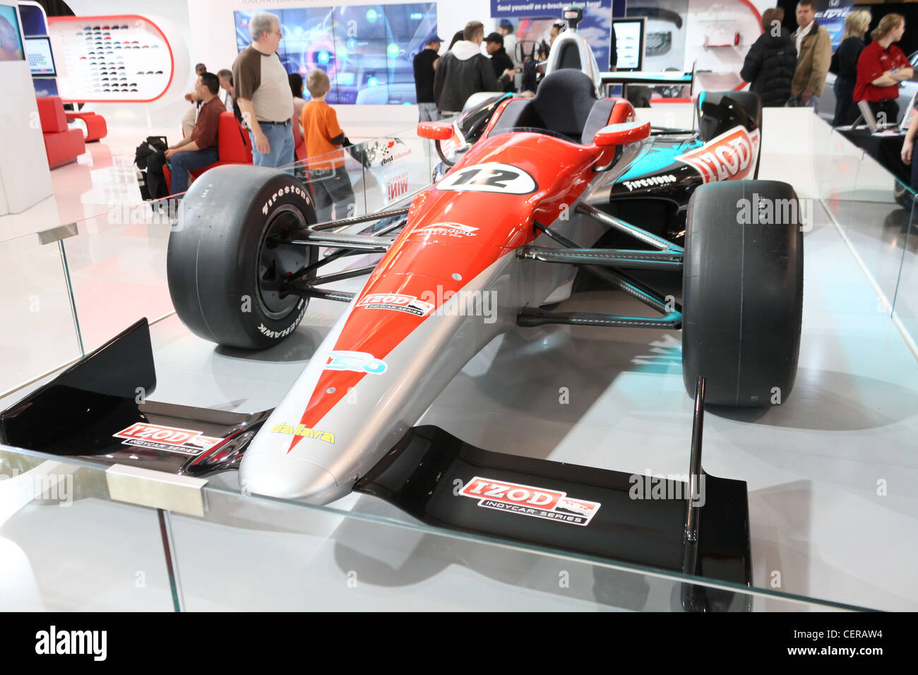 formula one f1 fast race racing sports car on display at a car show - Stock Image