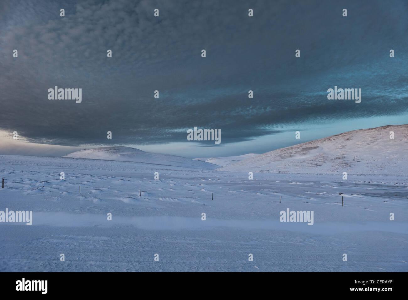Winter, Skagafjordur, Iceland - Stock Image