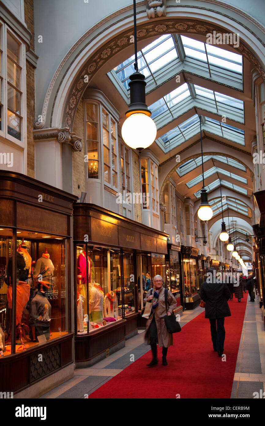 Burlington Arcade in Piccadilly - Stock Image