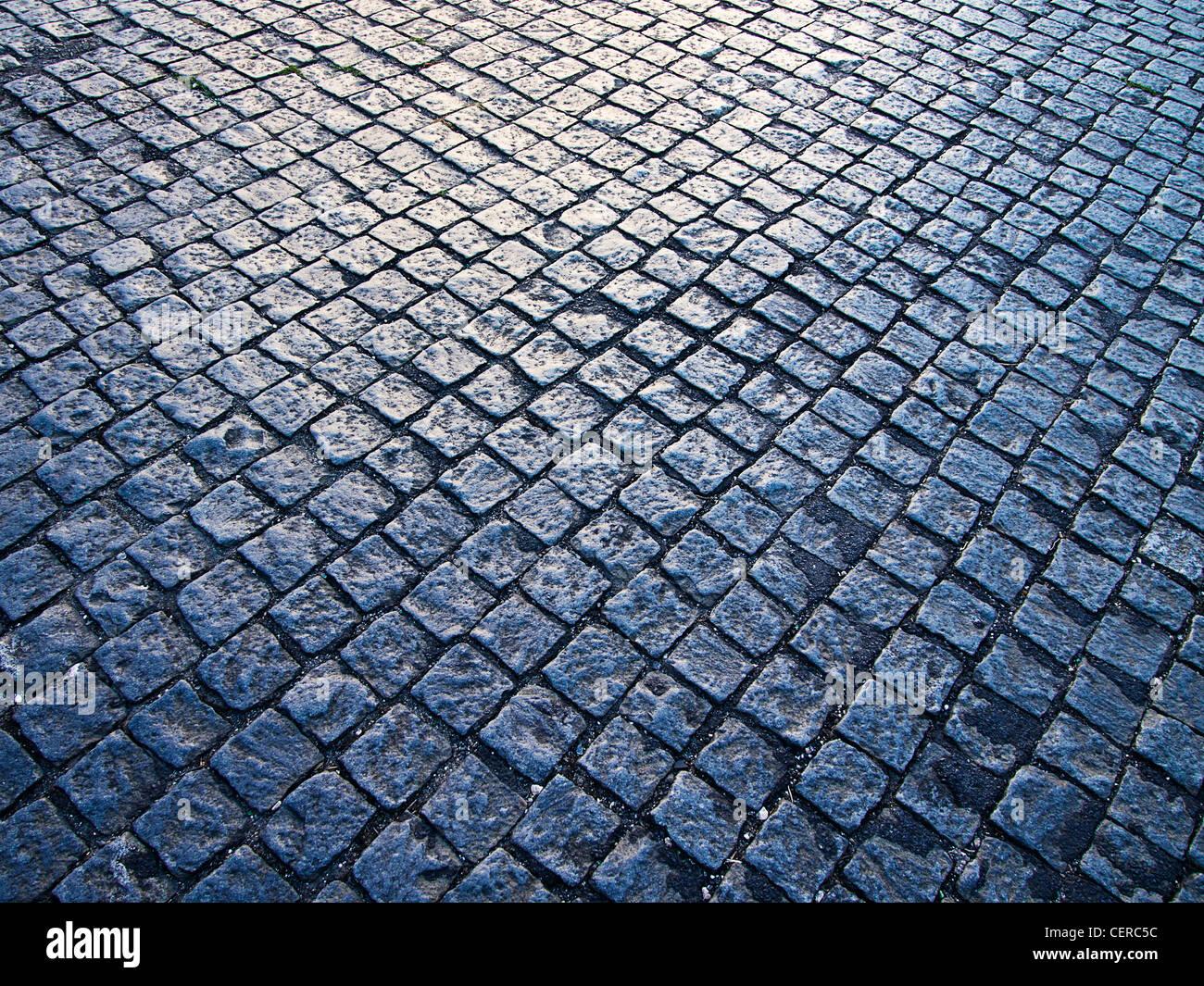 Cobblestone Pattern With Light - Stock Image