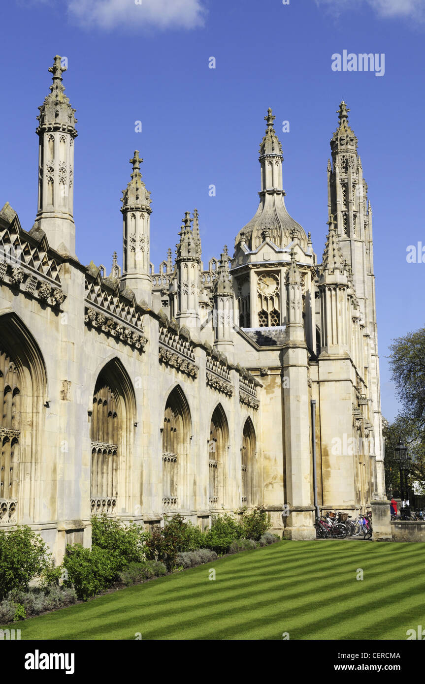 The entrance to King's College on King's Parade. - Stock Image