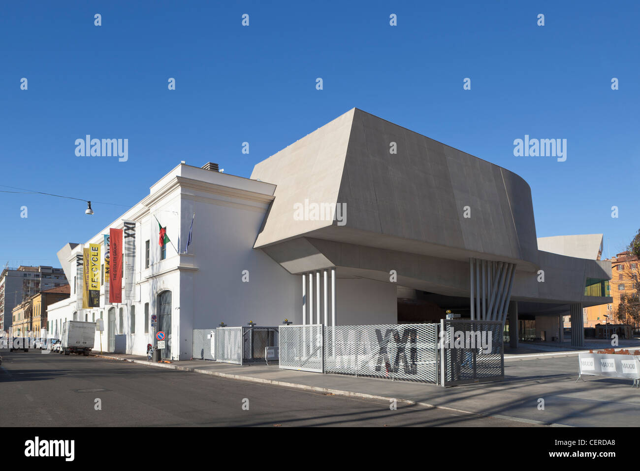 The MAXXI, National Museum of 21st Century Arts, Rome, Italy - Stock Image