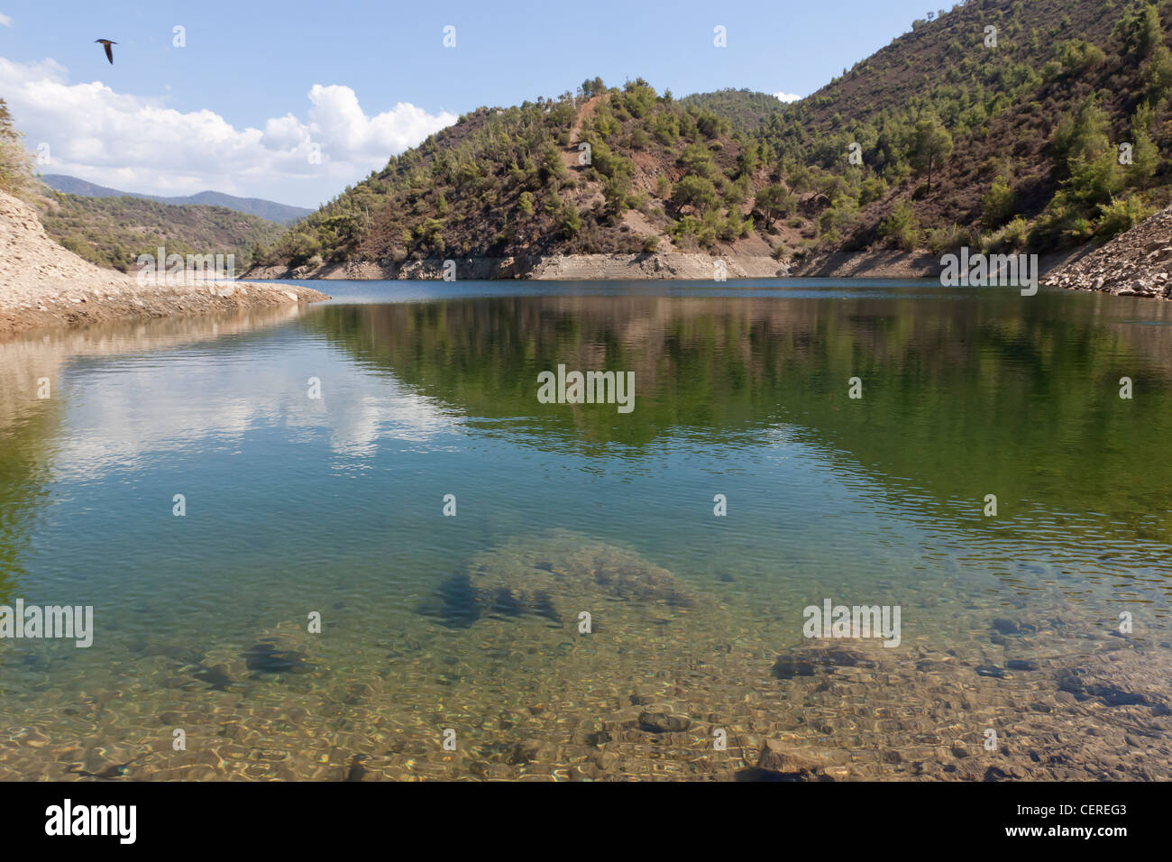 Argaka dam, Paphos area, Cyprus Stock Photo