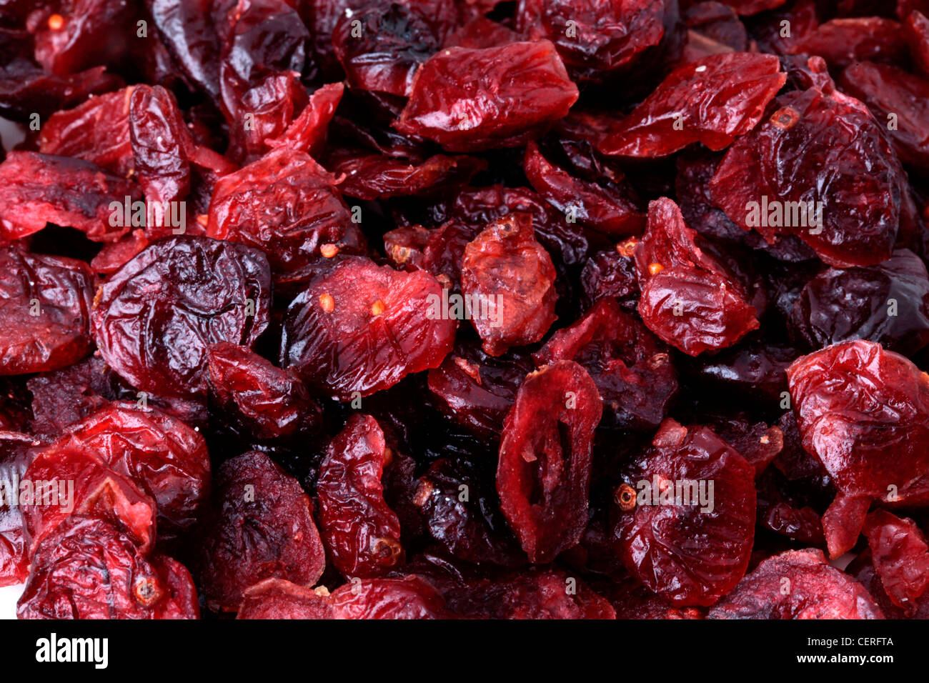 DRIED CRANBERRIES - Stock Image