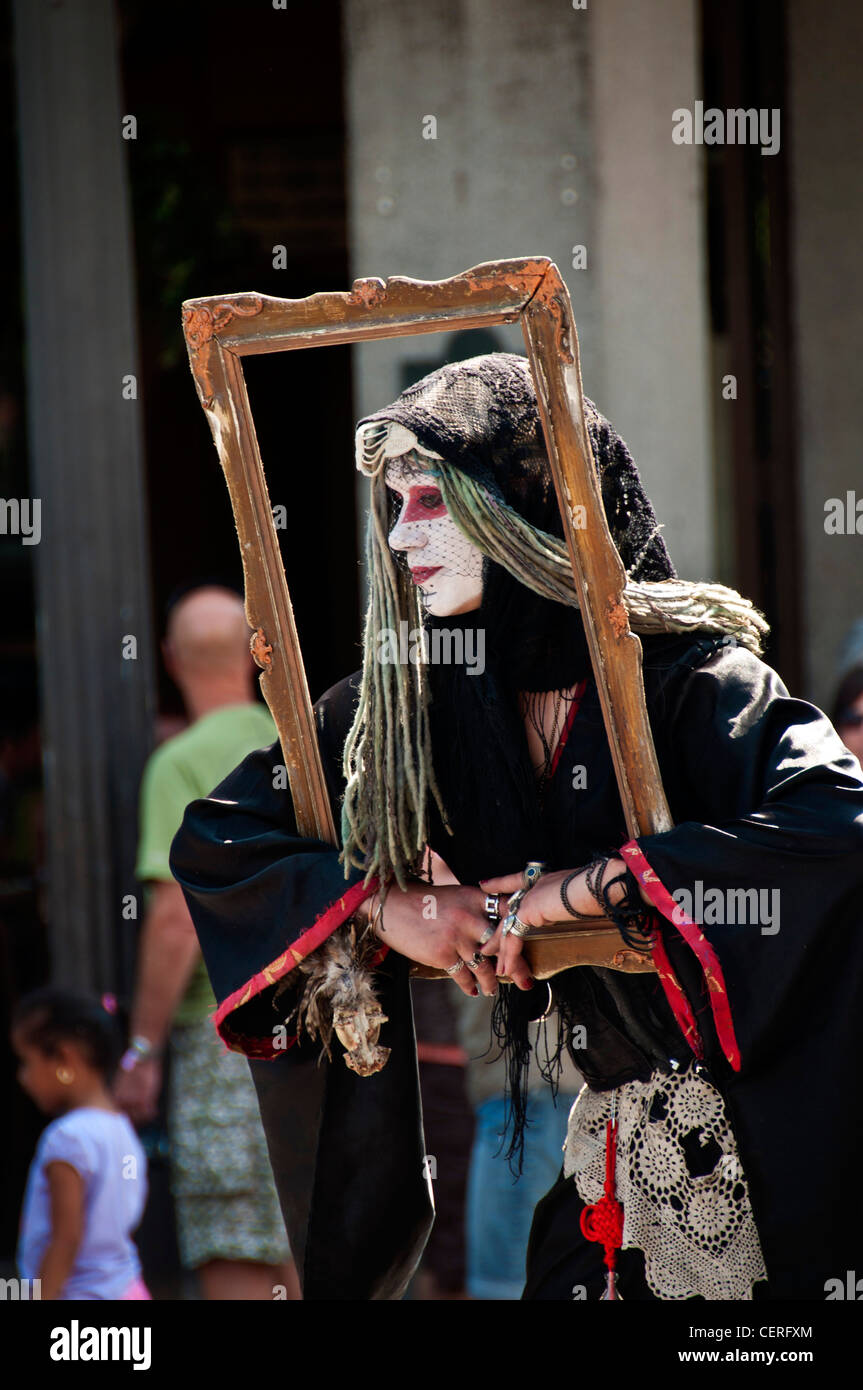 Street artist in Jackson Square in New Orleans French Quarter, Louisiana USA - Stock Image