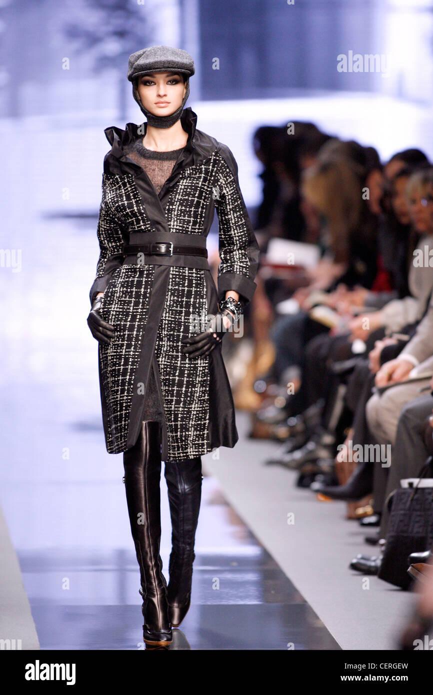 Celine Paris Ready To Wear Autumn Winter Model Bruna Tenorio Wearing Stock Photo Alamy
