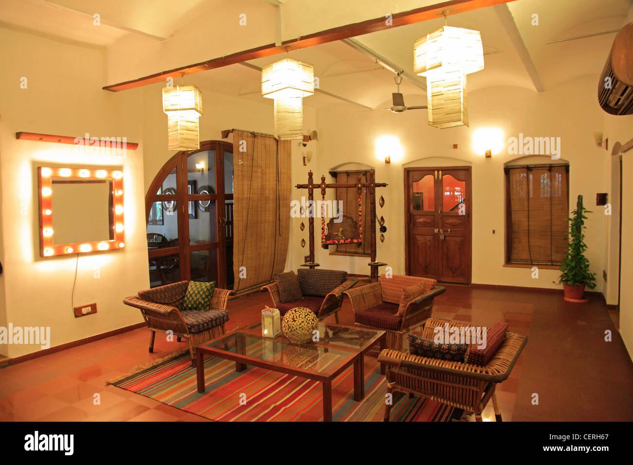 India, Gujarat, Ahmedabad, House of Mangaldas Girdhardas, heritage hotel, - Stock Image