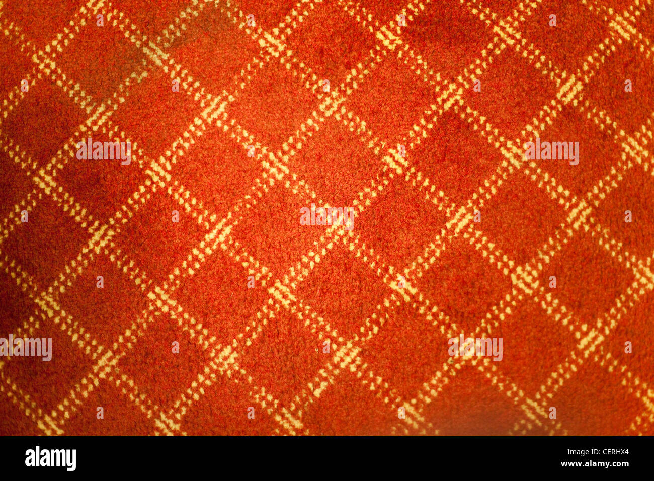 Red old carpet for background - Stock Image