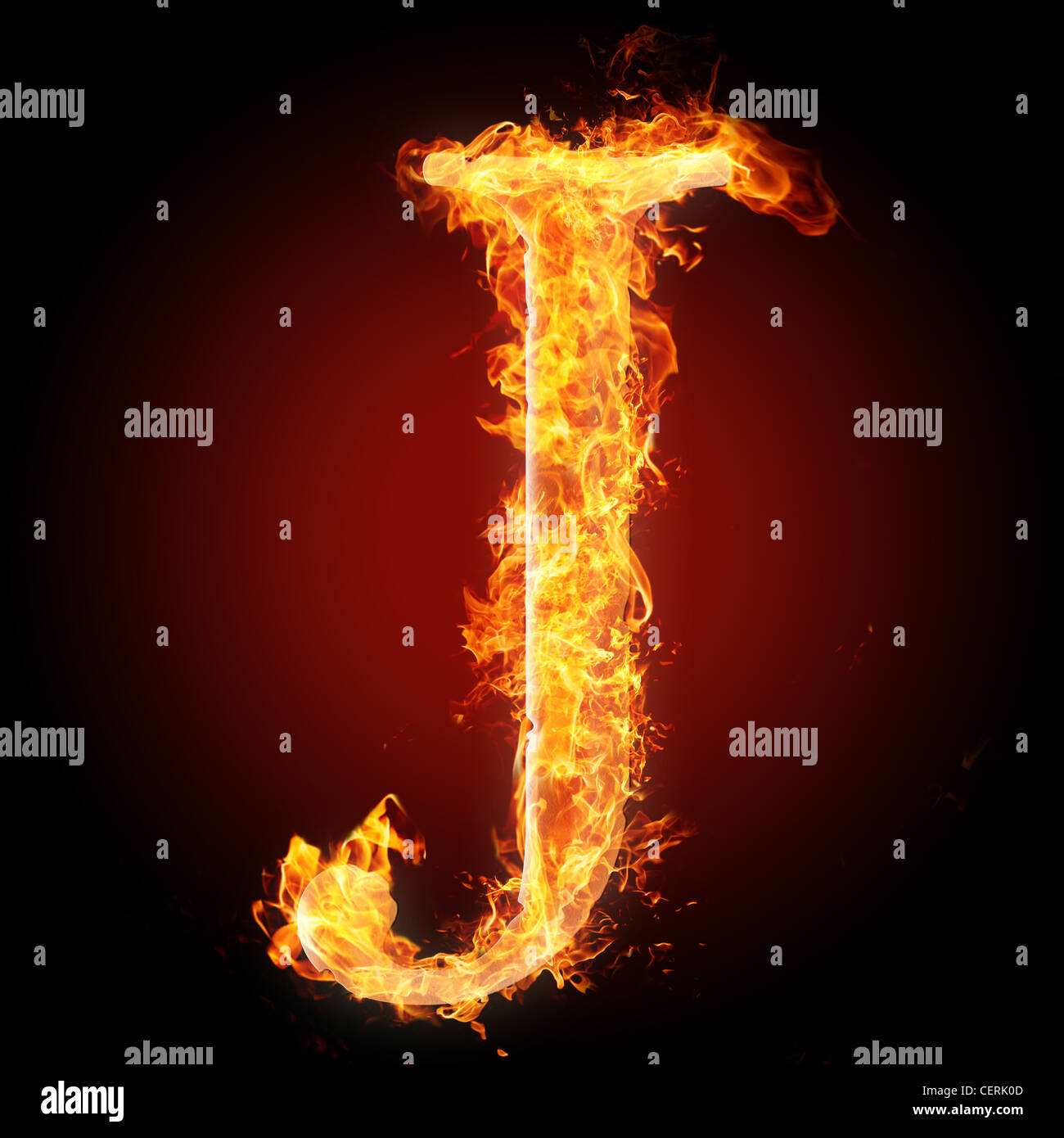 letter j in fire for more words fonts and symbols see my portfolio