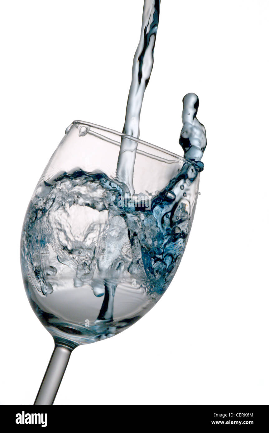 water pouring into glass stock photo 43545900 alamy