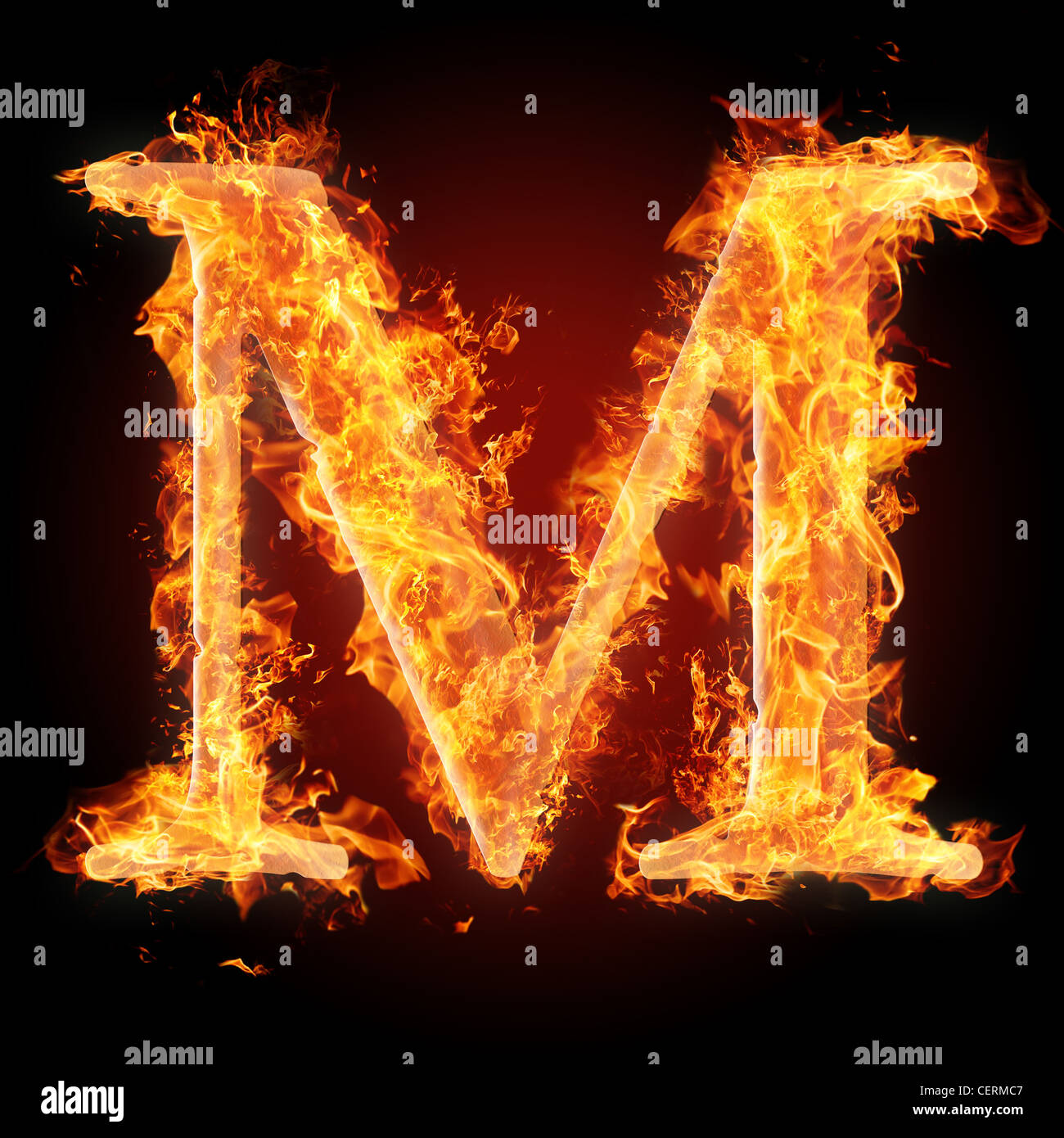 422dd63ed5e51 Letter M in fire. For more words, fonts and symbols see my portfolio.