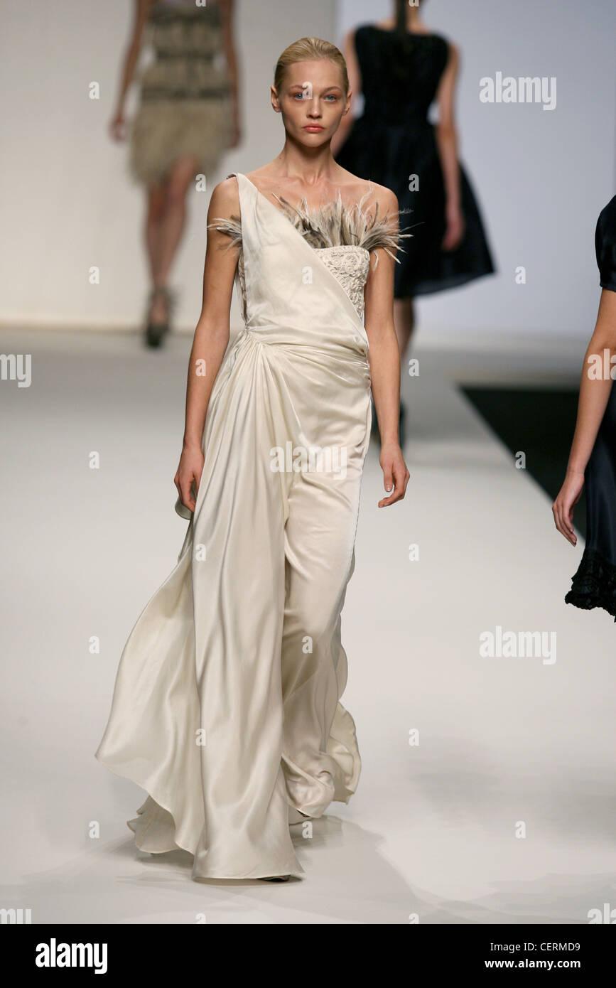 La Perla Milan Ready to Wear Spring Summer Blonde model wearing a ...