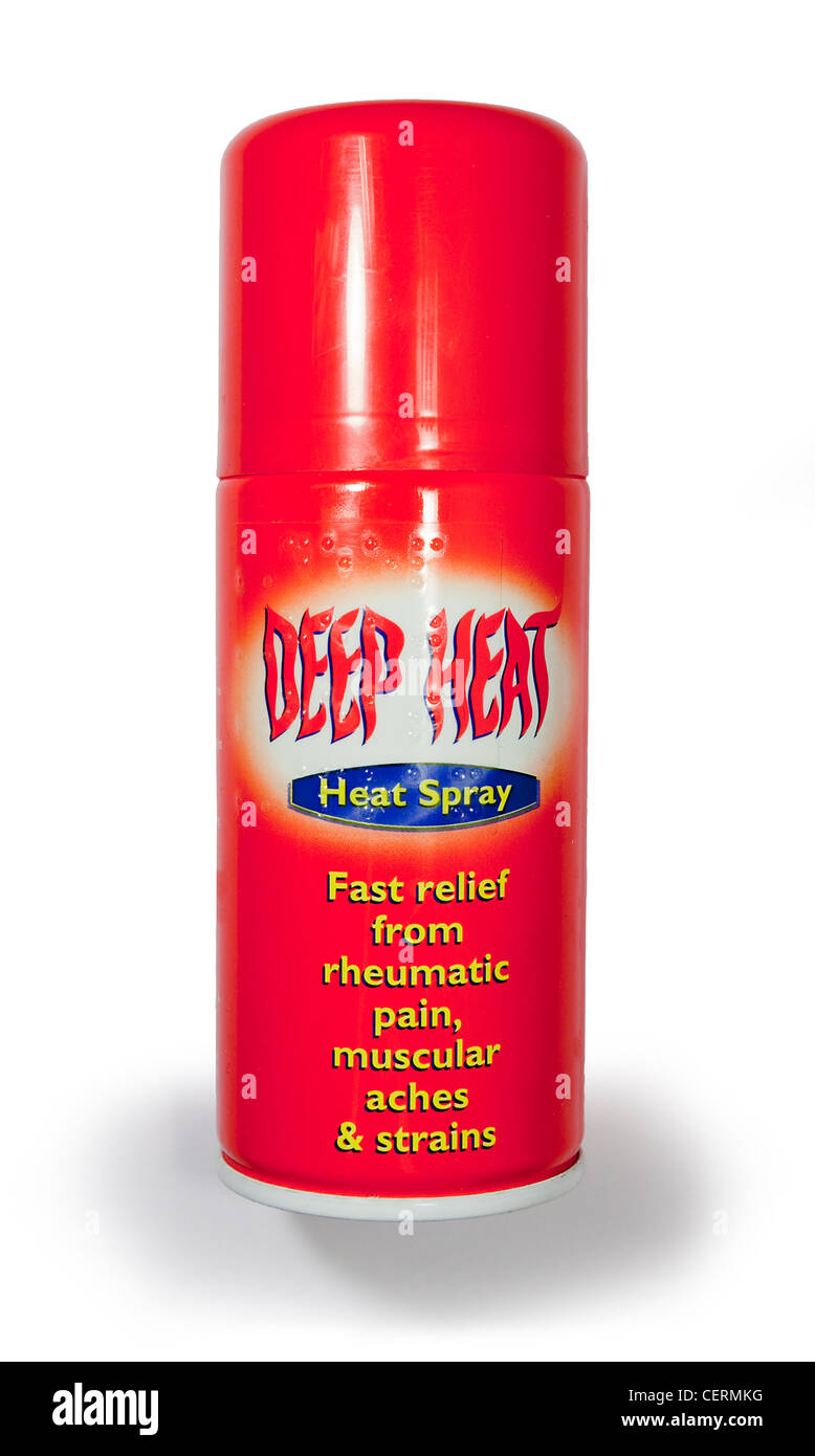 Deep Heat Pain Relief Spray Muscular Aches Pains - Stock Image