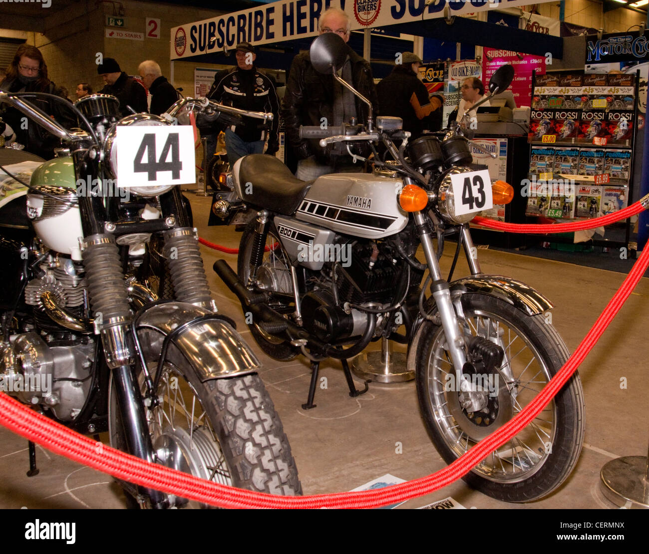 Yamaha RD200 at the Classic bike show. - Stock Image