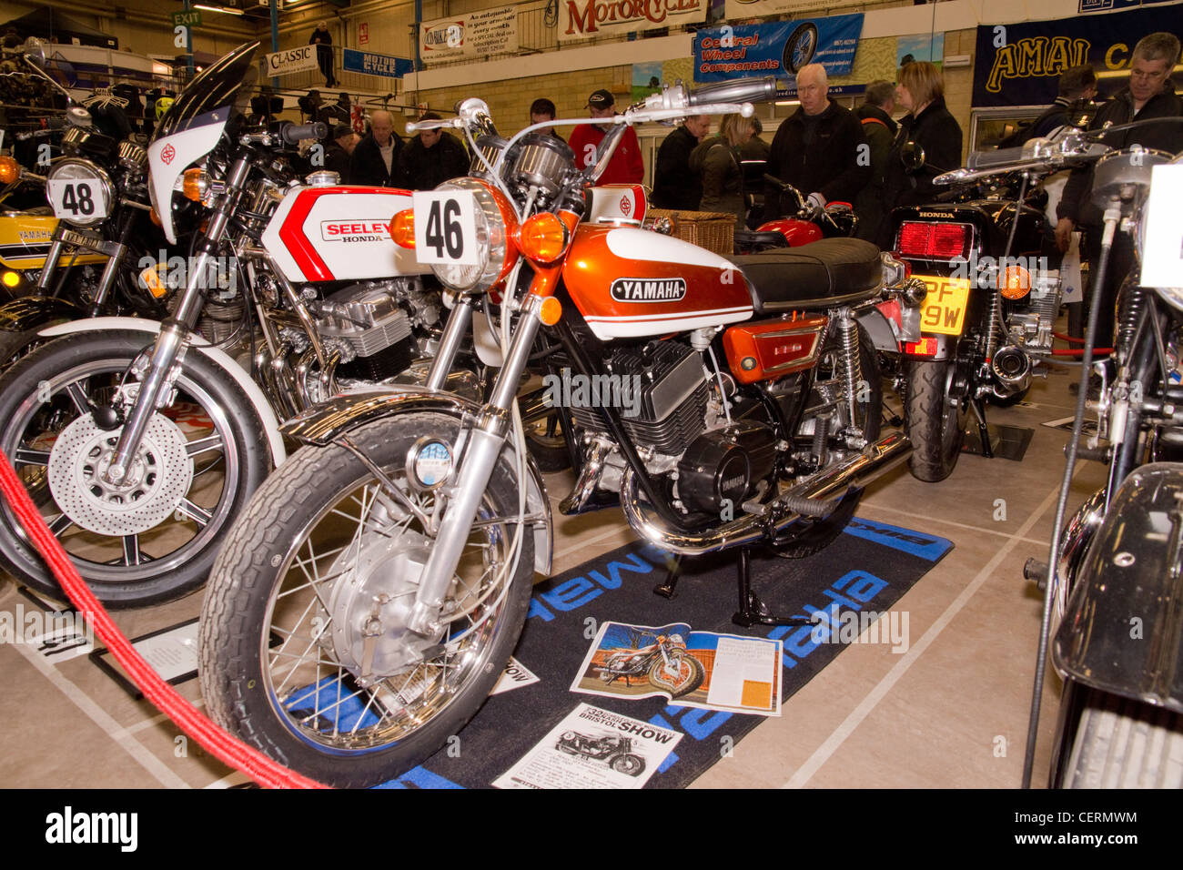 Yamaha 350 at the Classic bike show. - Stock Image