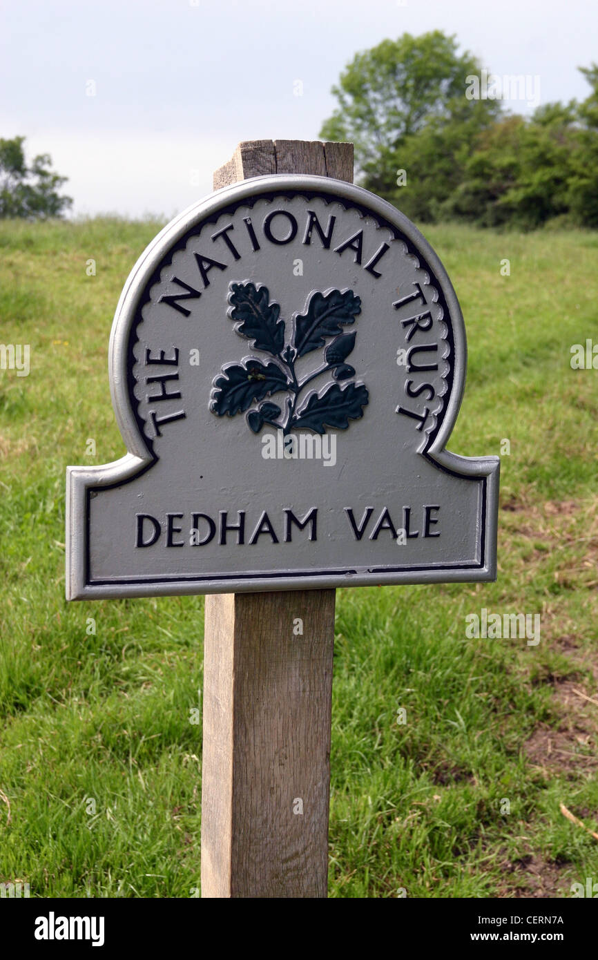 Dedham Vale is a designated Area of Outstanding Natural Beauty Stock Photo