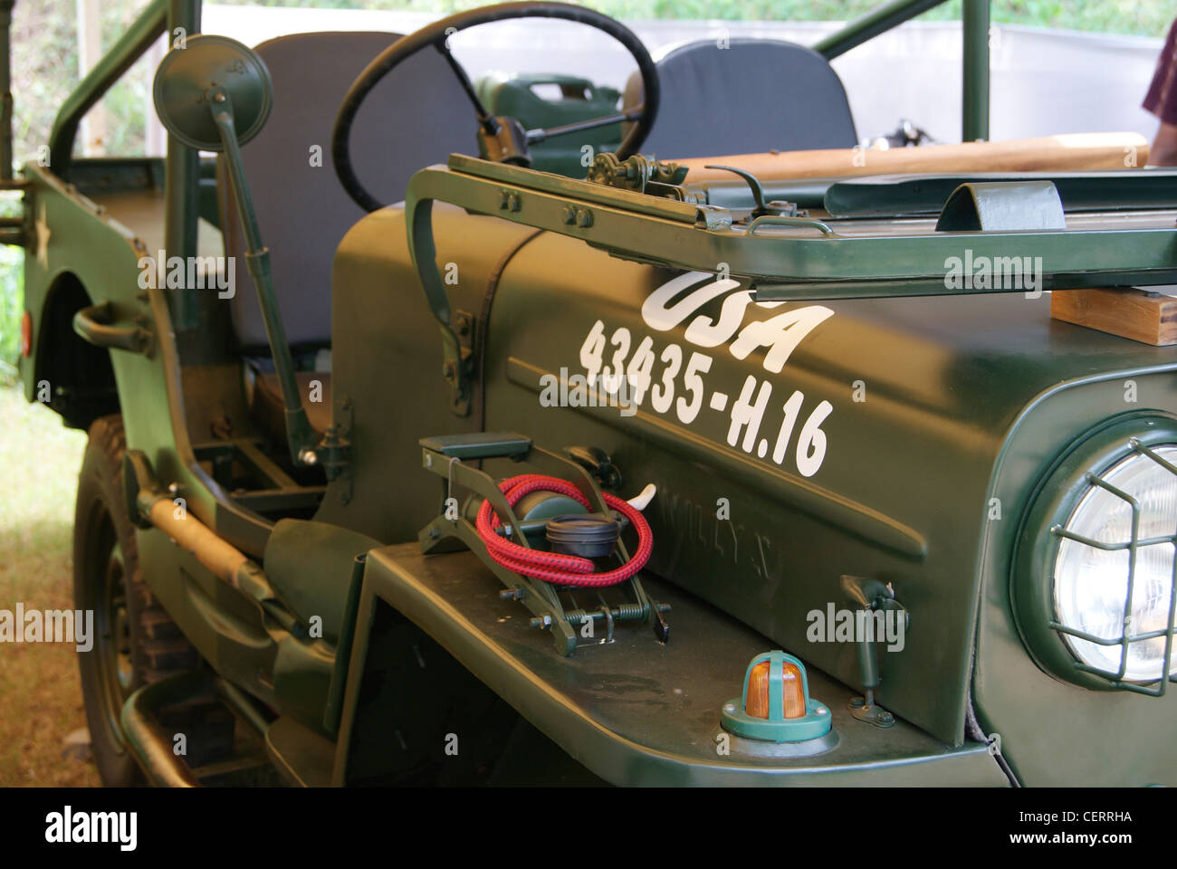 Willys MB USA Military Jeep ( 43435 - H.16) - Stock Image