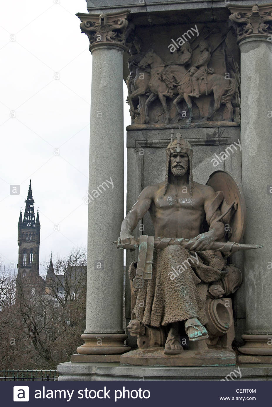 Field Marshall Lord Roberts Indian Mutiny Statue in Kelvingrove Park. - Stock Image