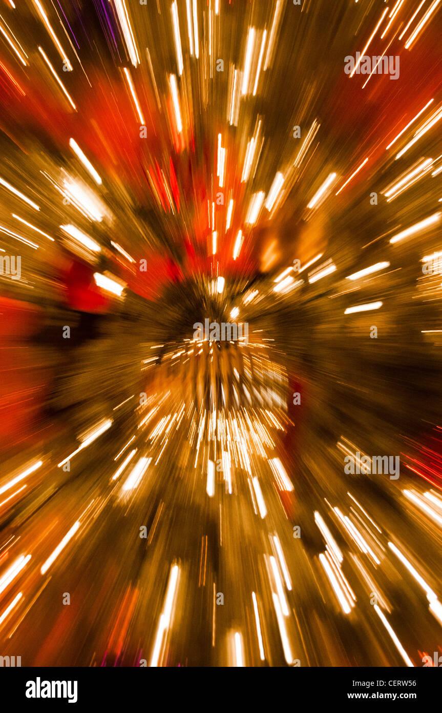blurred lights abstract Christmas Stock Photo