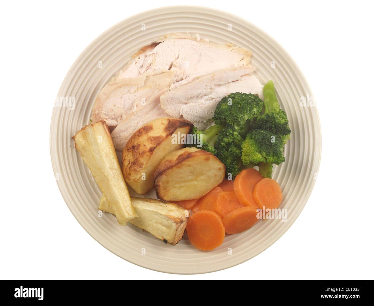 Roast Chicken Dinner - Stock Image