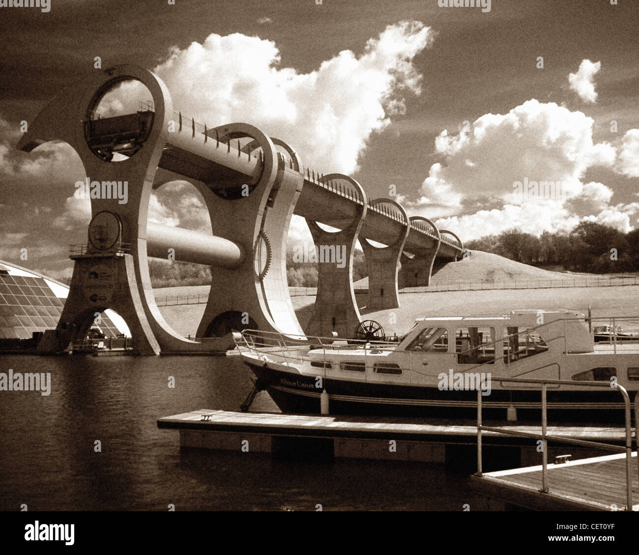 The Falkirk Wheel canal Lift, Scotland, UK @hotpixuk - Stock Image