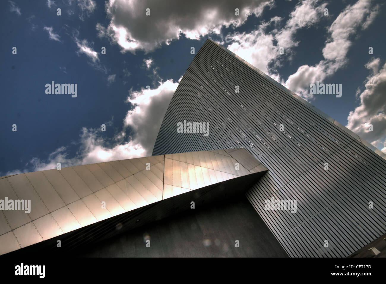 Imperial War Museum North Abstract , The Quays  Trafford Wharf Rd, Manchester M17 1TZ - Stock Image