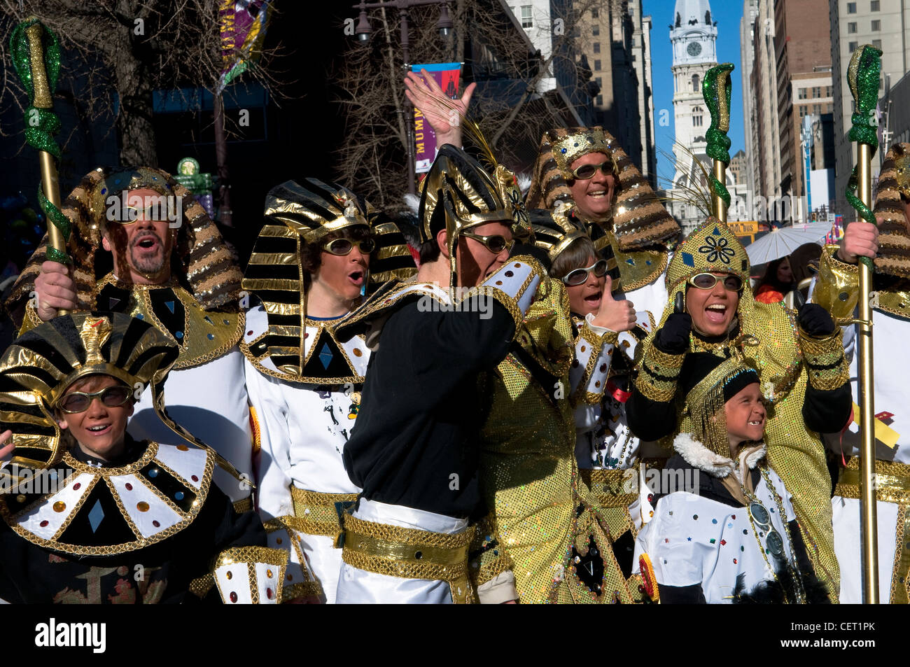 Mummers parade on New year's day in Philadelphia. - Stock Image