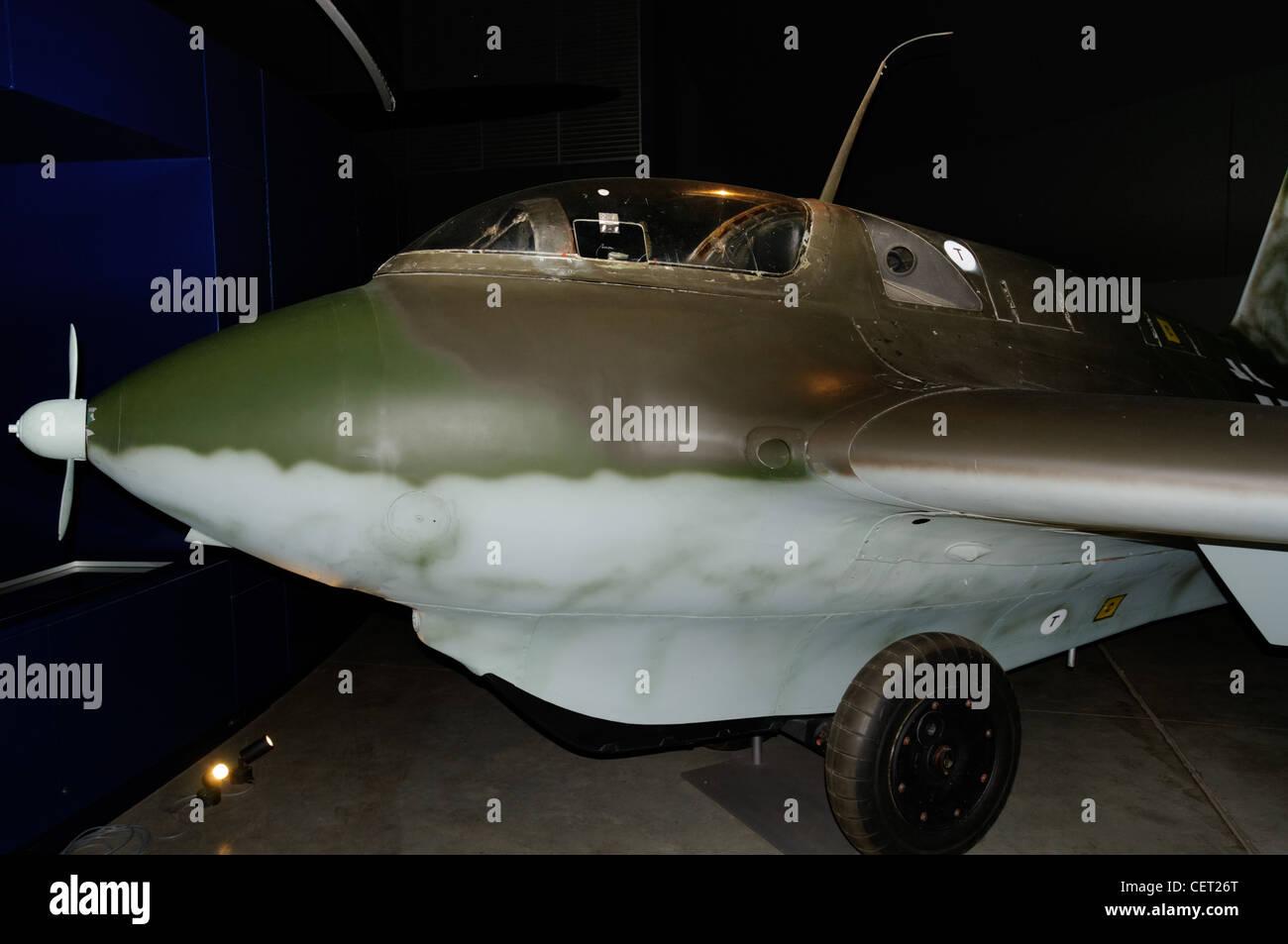 The Messerschmitt Me163 Komet, an experimental rocket powered fighter aircraft from WW2 at the Australian War Museum - Stock Image