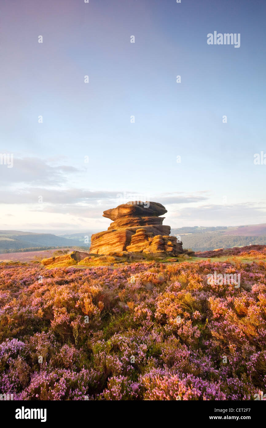 Mother Cap on Owler Tor in the Peak District National Park. - Stock Image