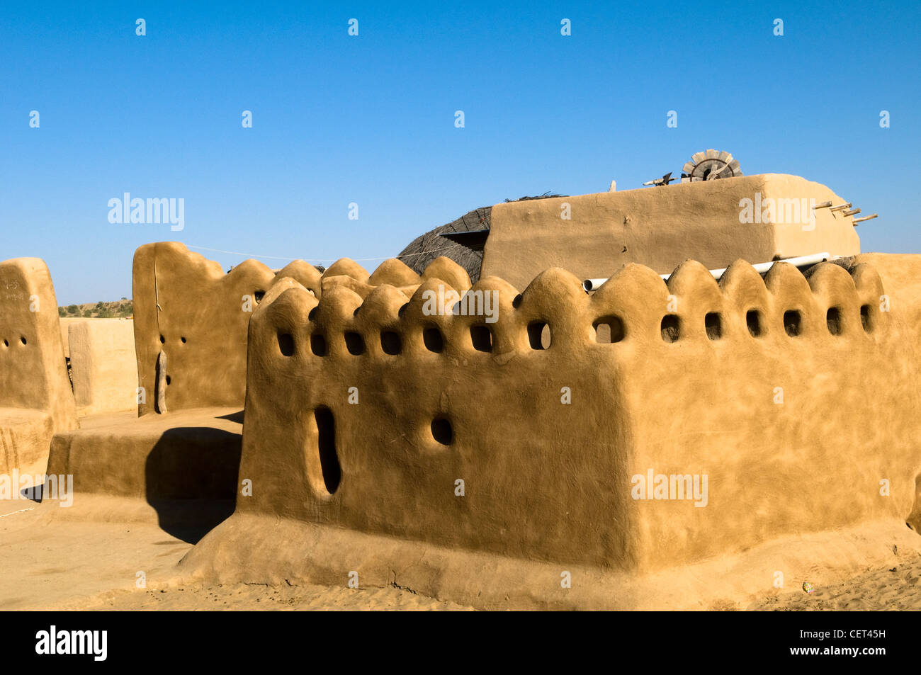 A Traditional Built House In A Small Village In The Thar Desert In Stock Photo Alamy