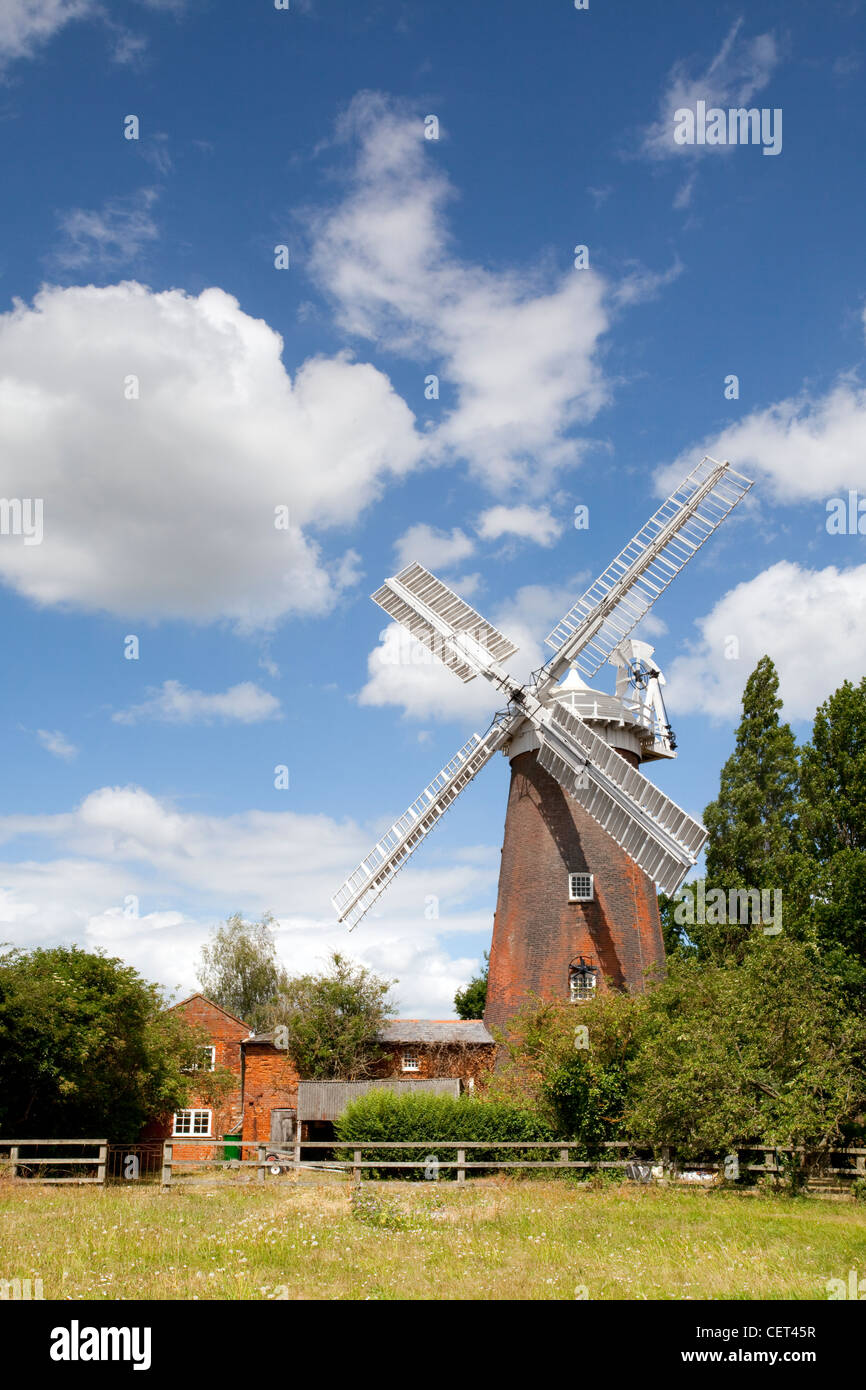 Buttrum's Mill (Trott's Mill) built in 1836, a Grade ll listed tower mill that has been restored to working - Stock Image
