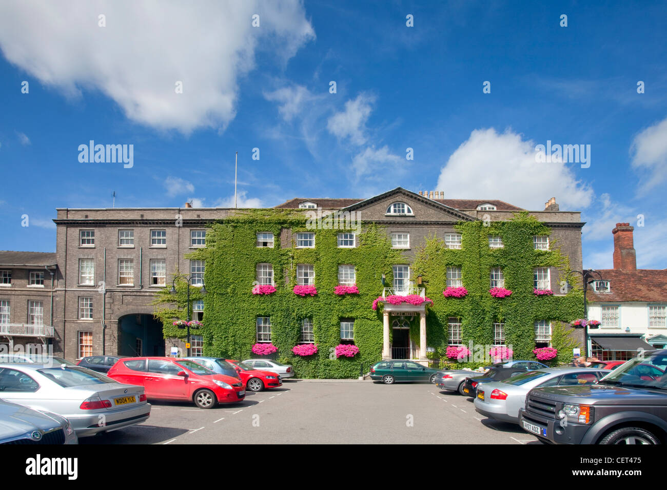 The Angel Hotel in Bury St Edmunds, Suffolk - Stock Image