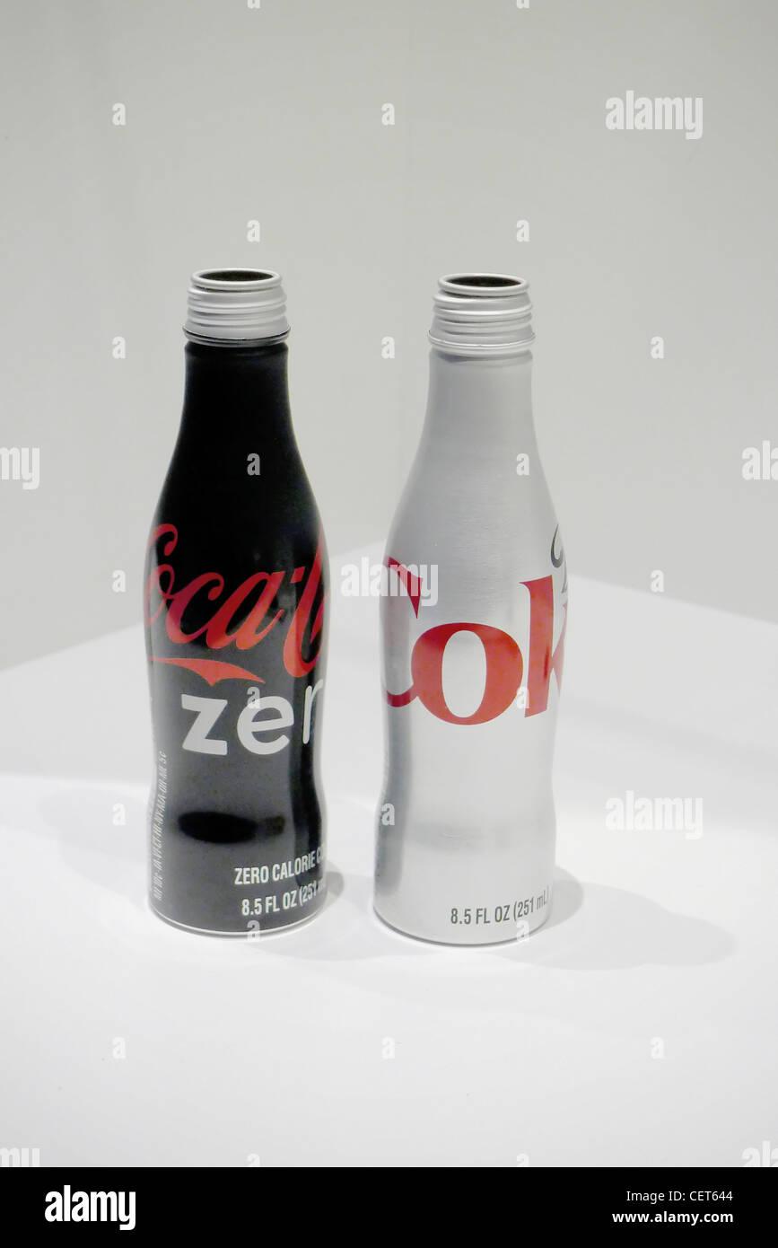 Two bottles of Diet coke - Stock Image
