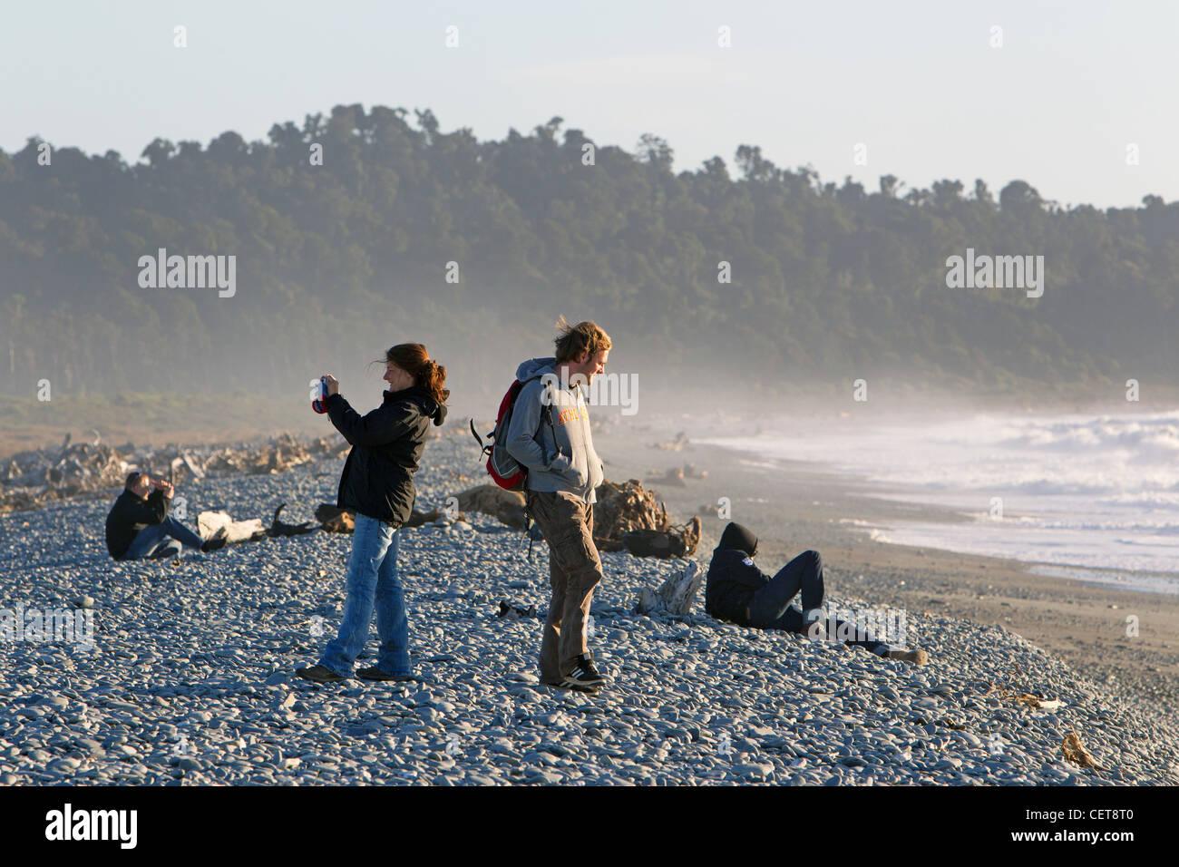 Gillespie Beach New Zealand - Stock Image
