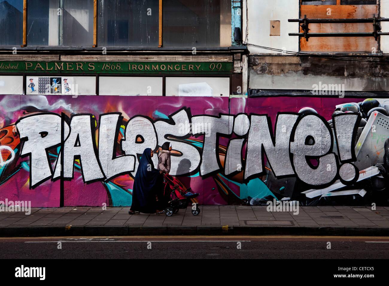 Graffiti supporting Palestine - Stock Image