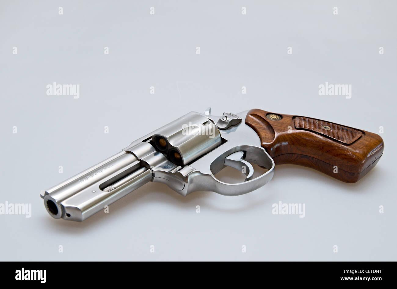 gun, handgun, defense, weapon, pistole,danger, revolver, Taurus - Stock Image