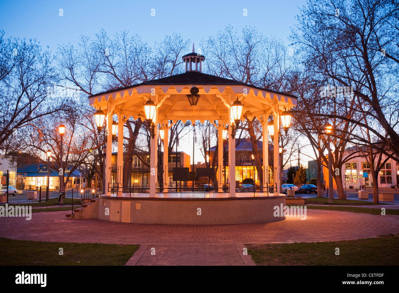 Old town plaza bandstand, Albuquerque - Stock Image