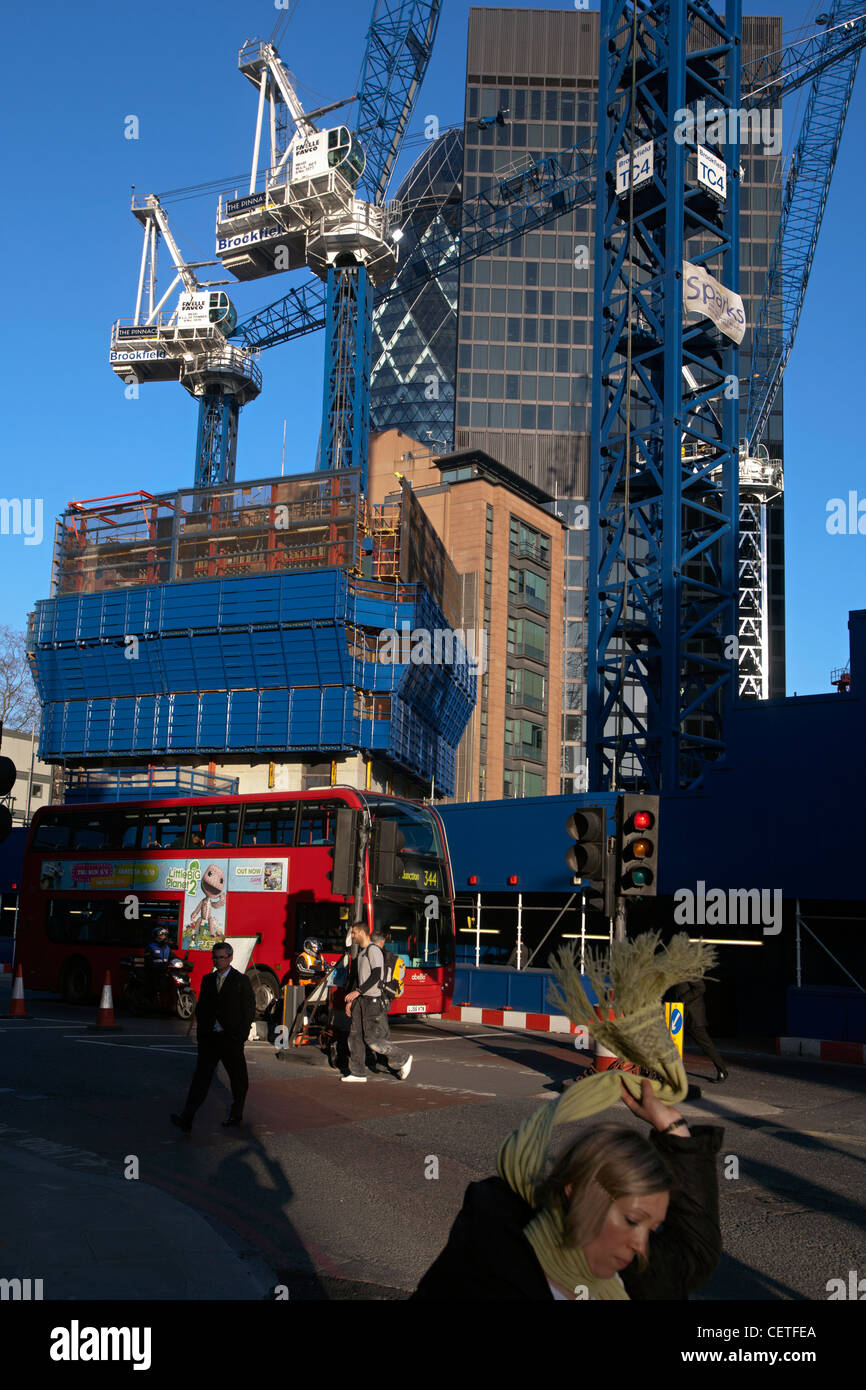 pinnacle building construction city of london - Stock Image