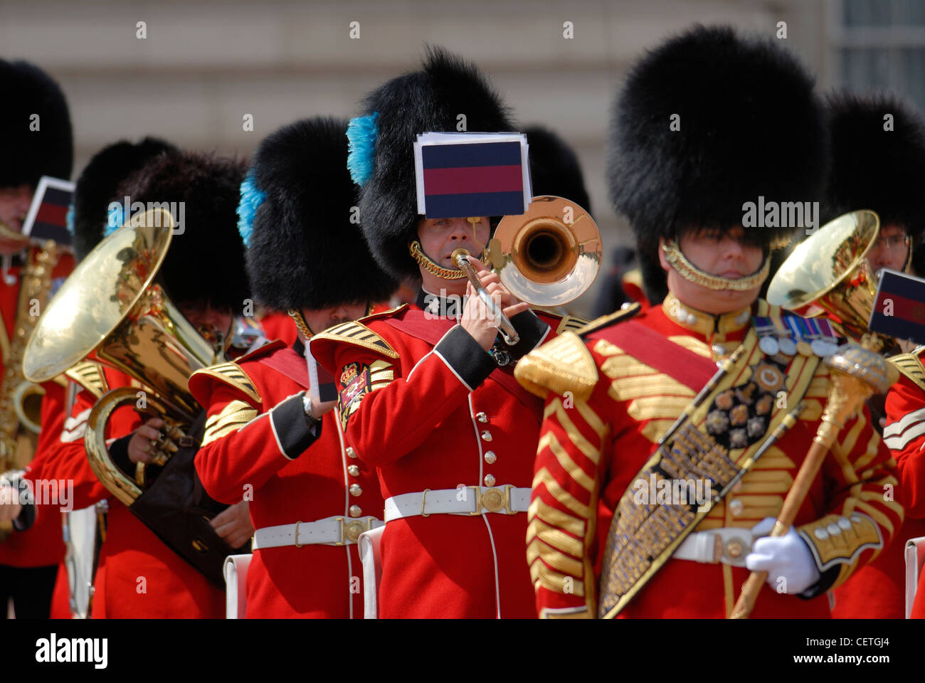 Changing of the Guard ceremony at Buckingham Palace. - Stock Image