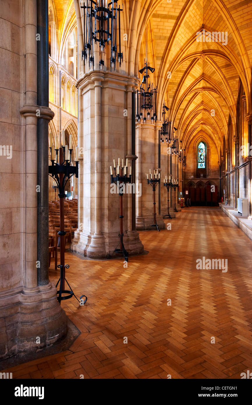 A view of the North Aisle of Southwark Cathedral. William Shakespeare is believed to have been present when John Stock Photo