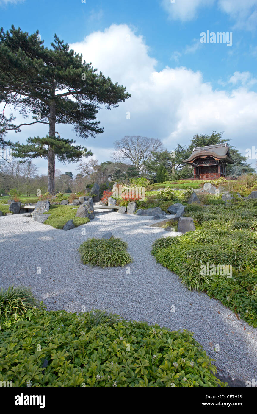A view of the Japanese Garden. Centred around Chokushi-Mon and covering an area of approximately 5,000 square metres, - Stock Image