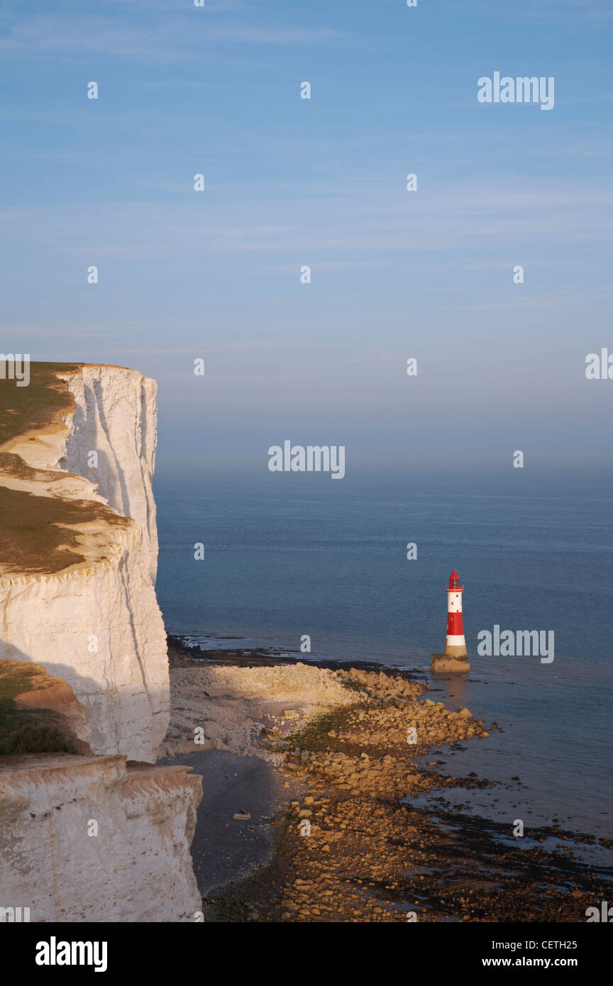 Beachy Head Lighthouse. In 1902 under the direction of Sir Thomas Matthews, the Trinity House Engineer-in-Chief, - Stock Image