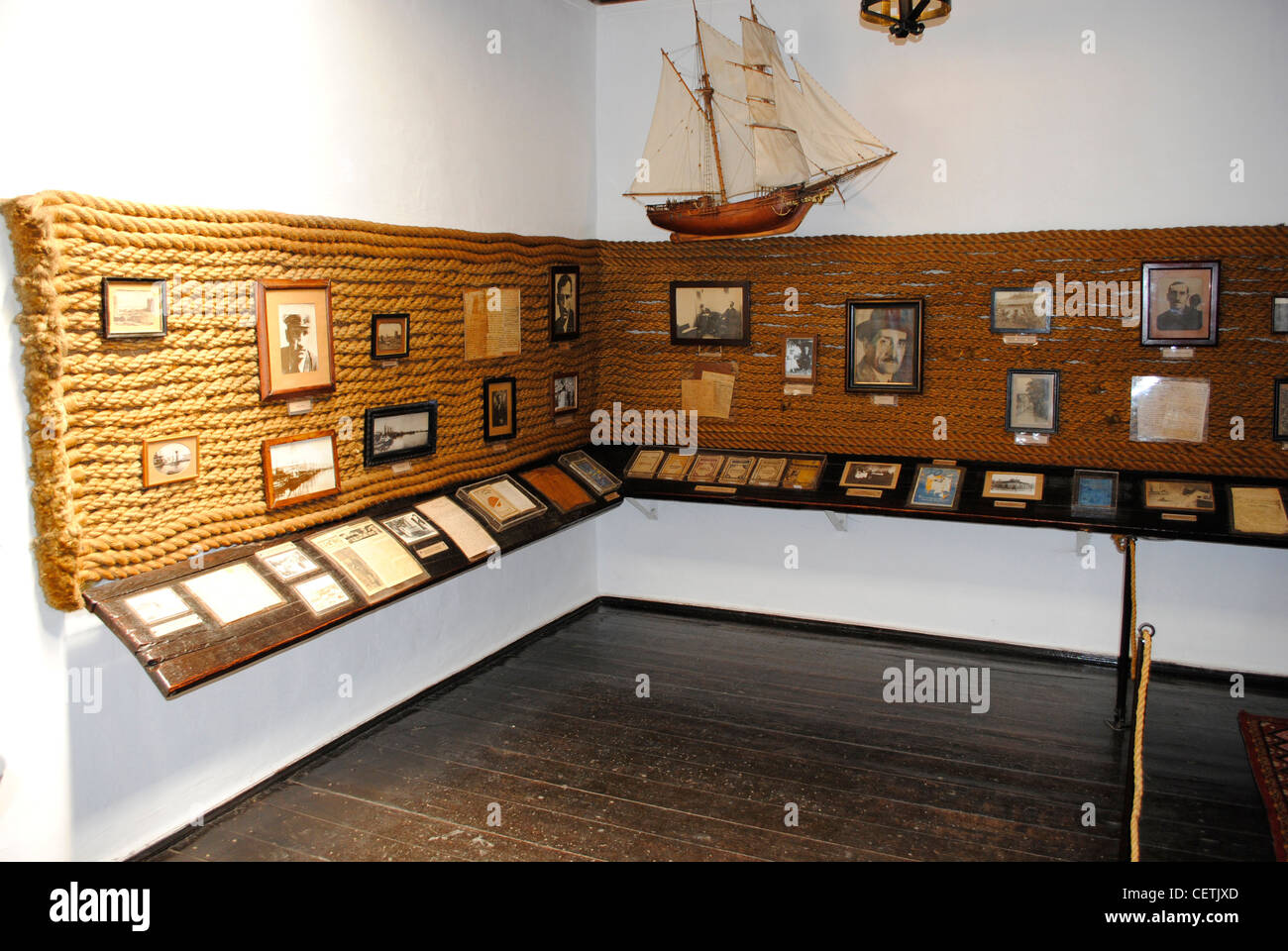 Ukraine. Autonomous Republic of Crimea. Feodosiya. Alexander Grin (1880-1932). Russian writer. House-Museum. Interior. - Stock Image