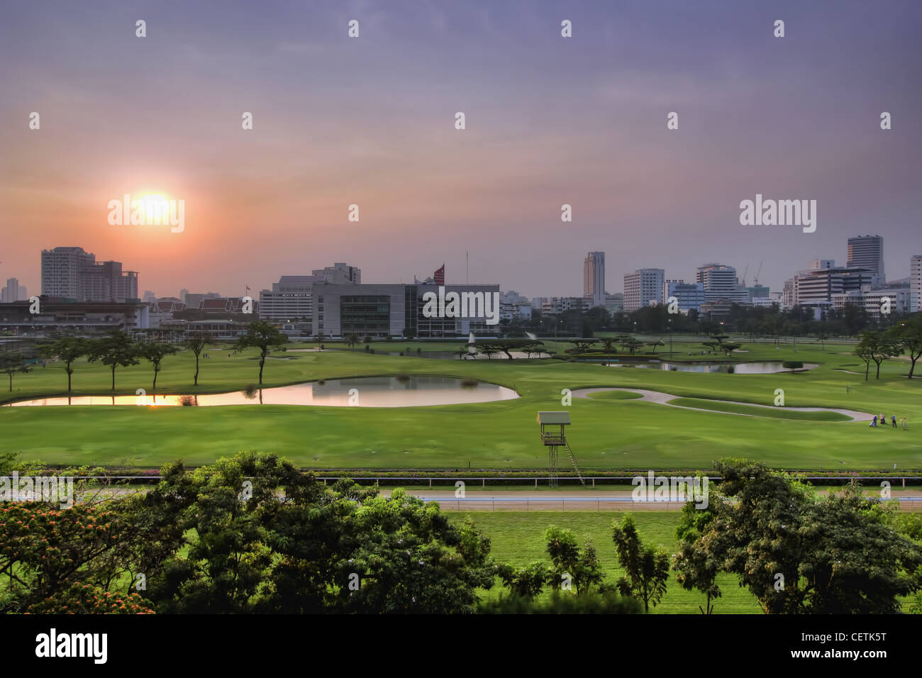 The Elite's Green Space in the Center of Bangkok | Royal Bangkok Sports Club (RBSC) - Stock Image