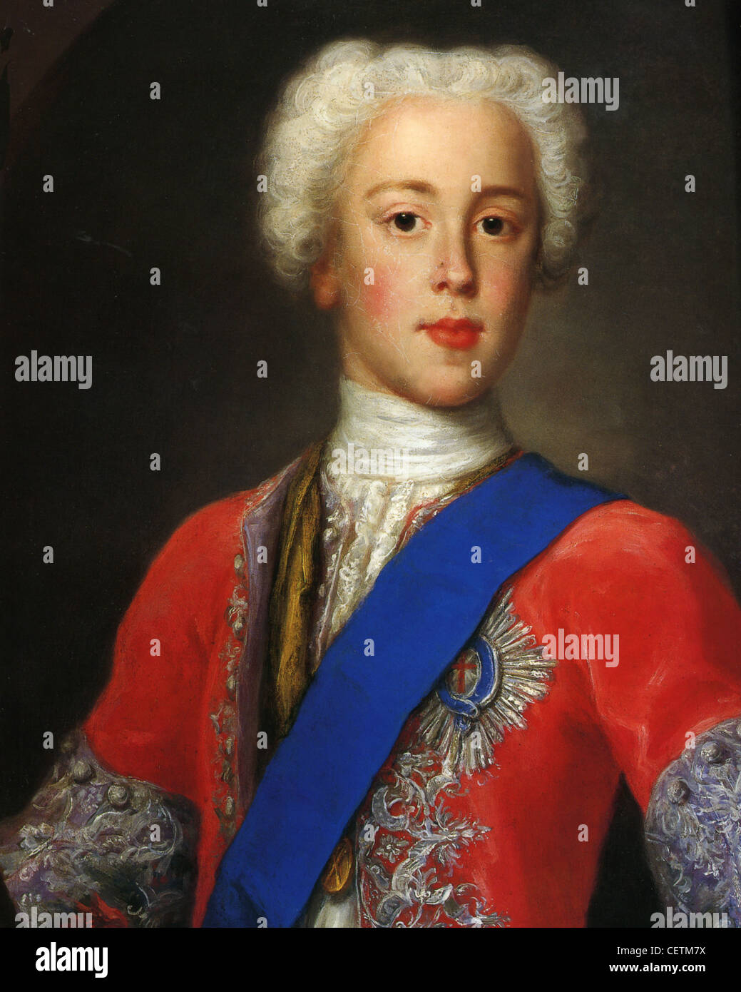BONNIE PRINCE CHARLIE - Charles Edward Stuart (1720-1788) Jacobite pretender to the throne of Great Britain - Stock Image