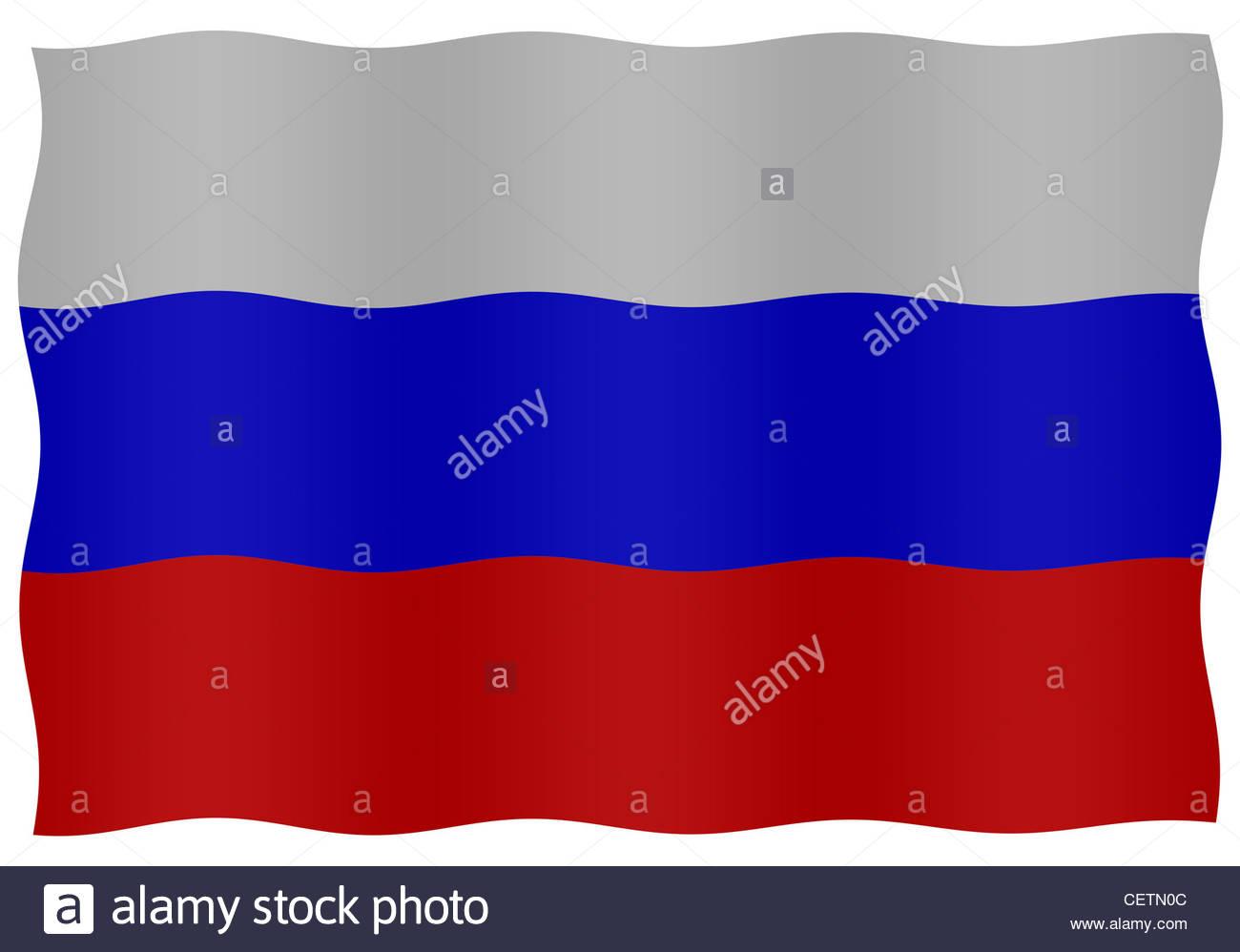 Digital composite - flag of Russia - Stock Image