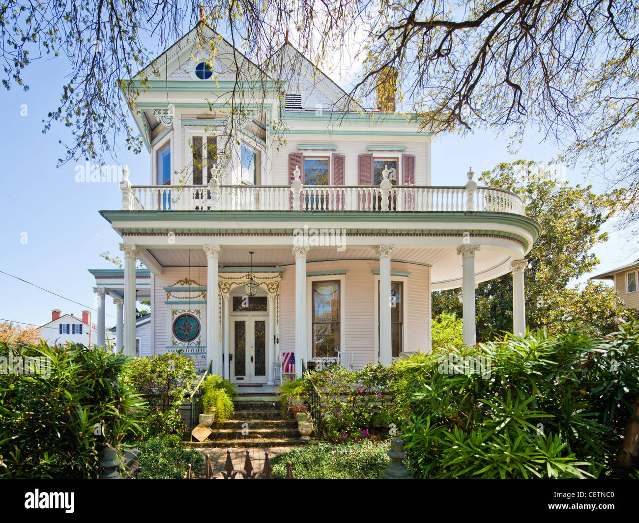 Victorian House, Garden District, New Orleans - Stock Image