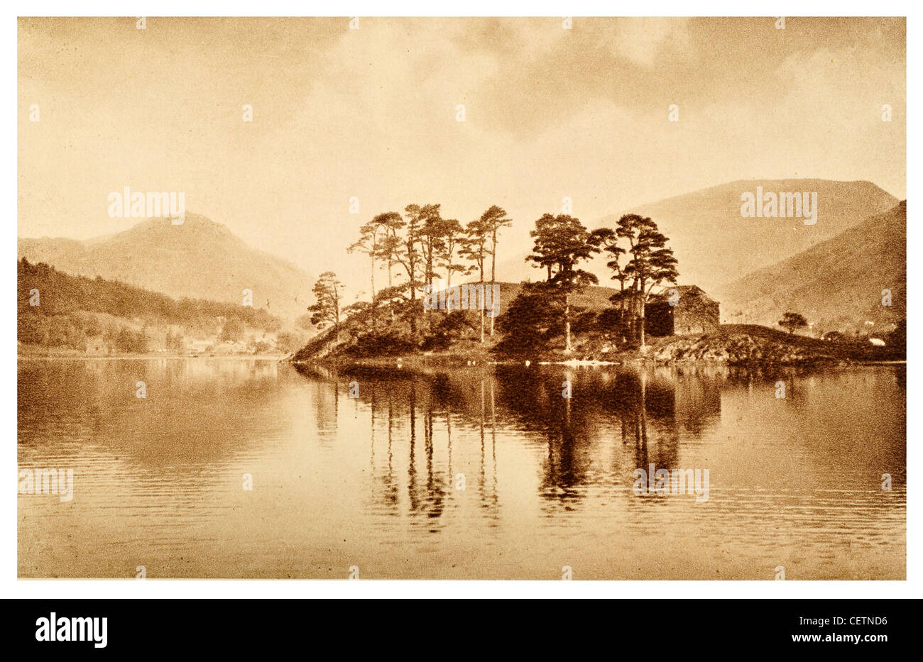 The Island Grasmere - Stock Image